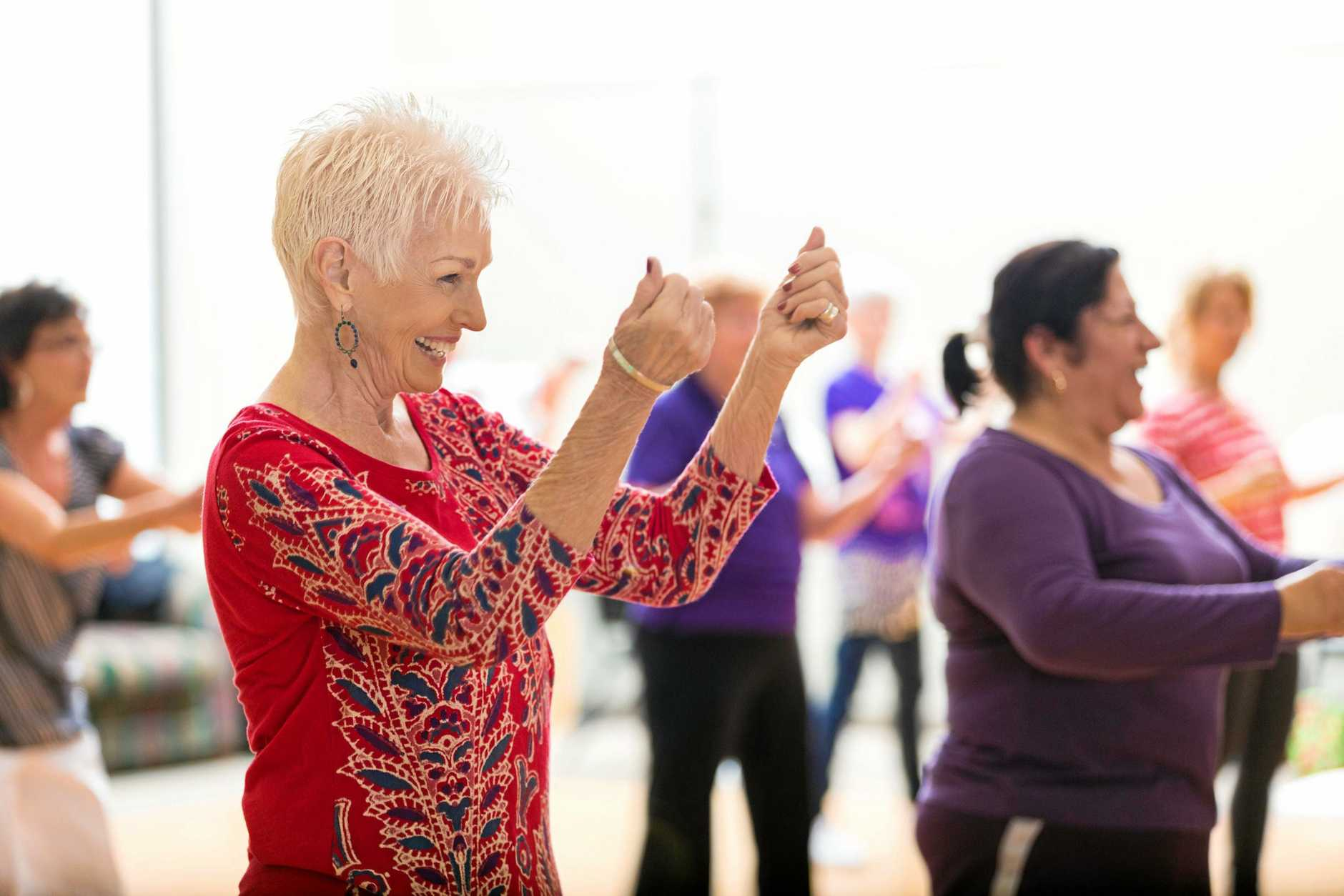 ENJOYMENT: Line dancing is fun and fitness for all ages.