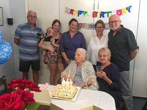 Gympie woman celebrates milestone birthday