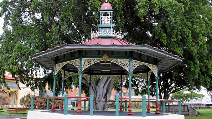 TOP: The Melville fountain in Queen's Park, Maryborough. ABOVE: