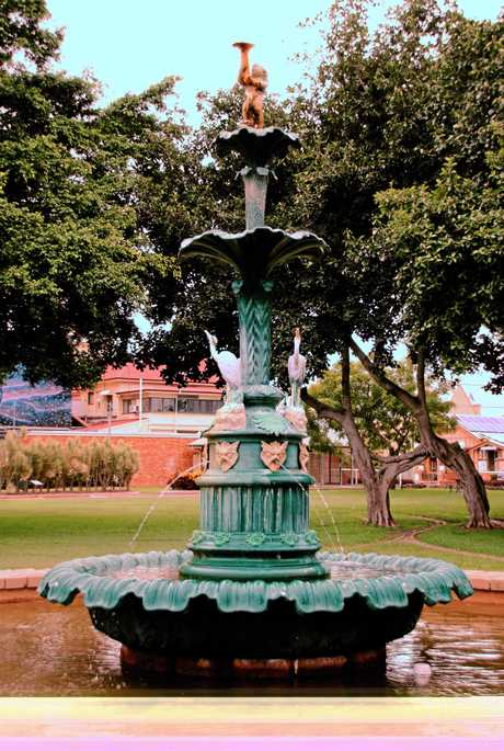 The Melville fountain in Queen's Park, Maryborough.