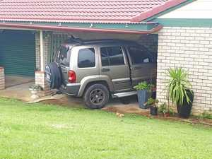 BREAKING: Jeep smashes into Gympie lounge room