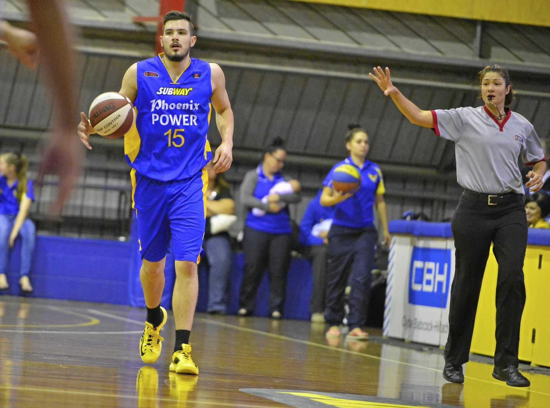 Men's basketball, Phoenix Power vs Townsville Flames at Kev Broome Stadium, Gladstone.  Power's Chris Goulding.  Photo Christopher Chan / The Observer