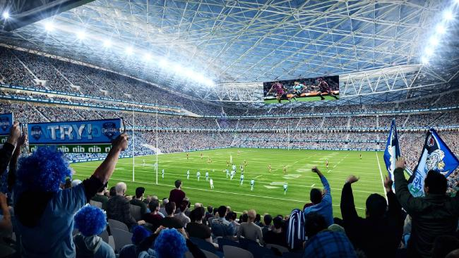 An artist impression of  ANZ Stadium's redevelopment plans. Picture: Supplied