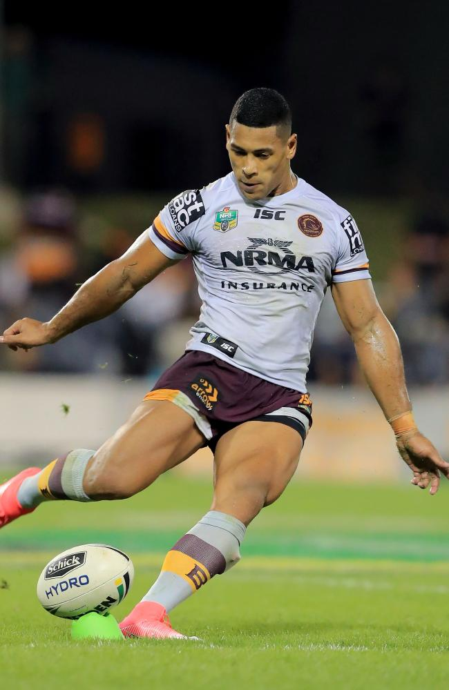 Jamayne Isaako guided the Broncos to a win over the Tigers last week. Picture: Mark Evans/Getty Images