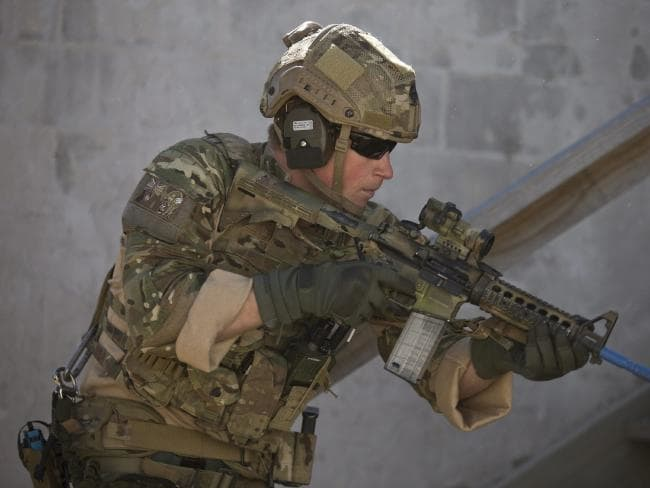 Prince Harry 10 years' military service saw him fight on the front line twice in Afghanistan. Picture: AFP/Saeed Khan