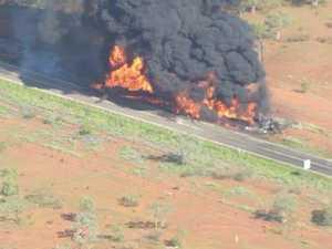 Fireball: One dead in fiery highway crash
