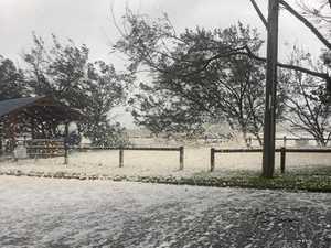 'Cyclone sea foam looked like it was snowing at Sarina'