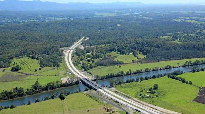 The Pacific Highway bridge over the Kalang River at Urunga.