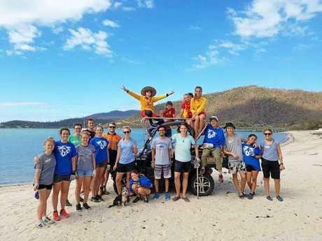 Members of Volunteer Whitsundays and Whitsunday Coast Lifesaving helped tidy up Boathaven Beach.