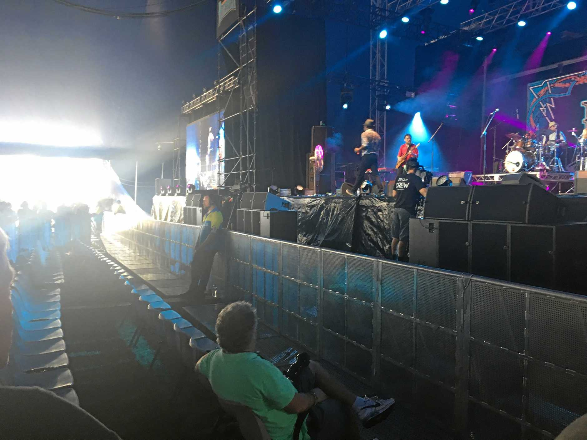 The front row seats in Mojo at Bluesfest 2018.