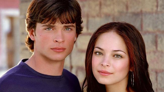 Smallville starred Kristin Kreuk as Lana Lang and Tom Welling as her boyfriend Clark Kent. Picture: Supplied