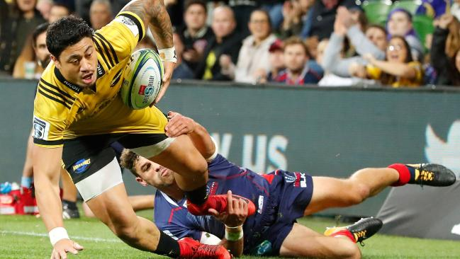 The Hurricanes were too strong for the Rebels at AAMI Park