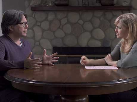 Allison Mack and Keith Raniere. Picture: Keith Raniere Conversations/Youtube