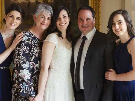 Paul Mercurio and his wife Andrea with their three daughters Elise, Emily and Erin.
