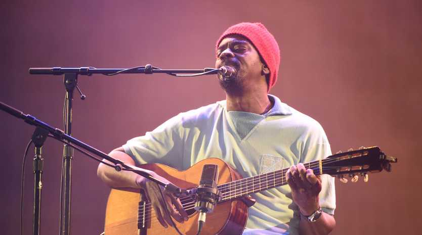 Seu Jorge performs at the Mojo Tent at Bluesfest 2018 near Tyagarah in Byron Bay.