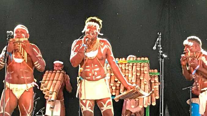 BOOMERANG: Solomon Island's band Narasirato at Bluesfest 2018.