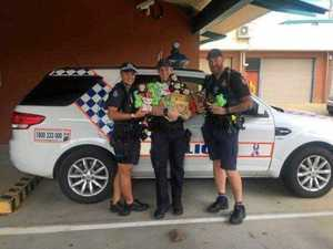 Handmade teddy bears donated to police for DV victims