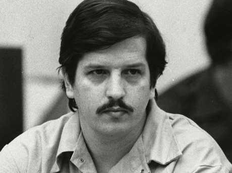 'Freeway killer' William Bonin in court circa 1983. Picture: AP