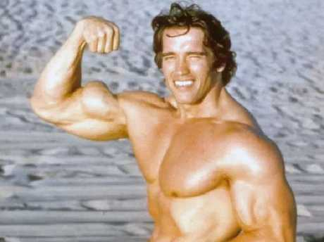 Arnold Schwarzenegger as a young bodybuilder.  Picture:  Supplied