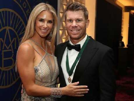 David Warner and Candice Falzon, a love story. Picture: Instagram