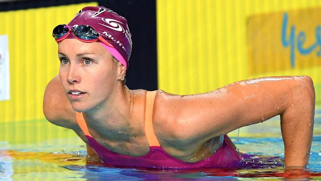 Emma McKeon is chasing gold in six events at the Commonwealth Games.