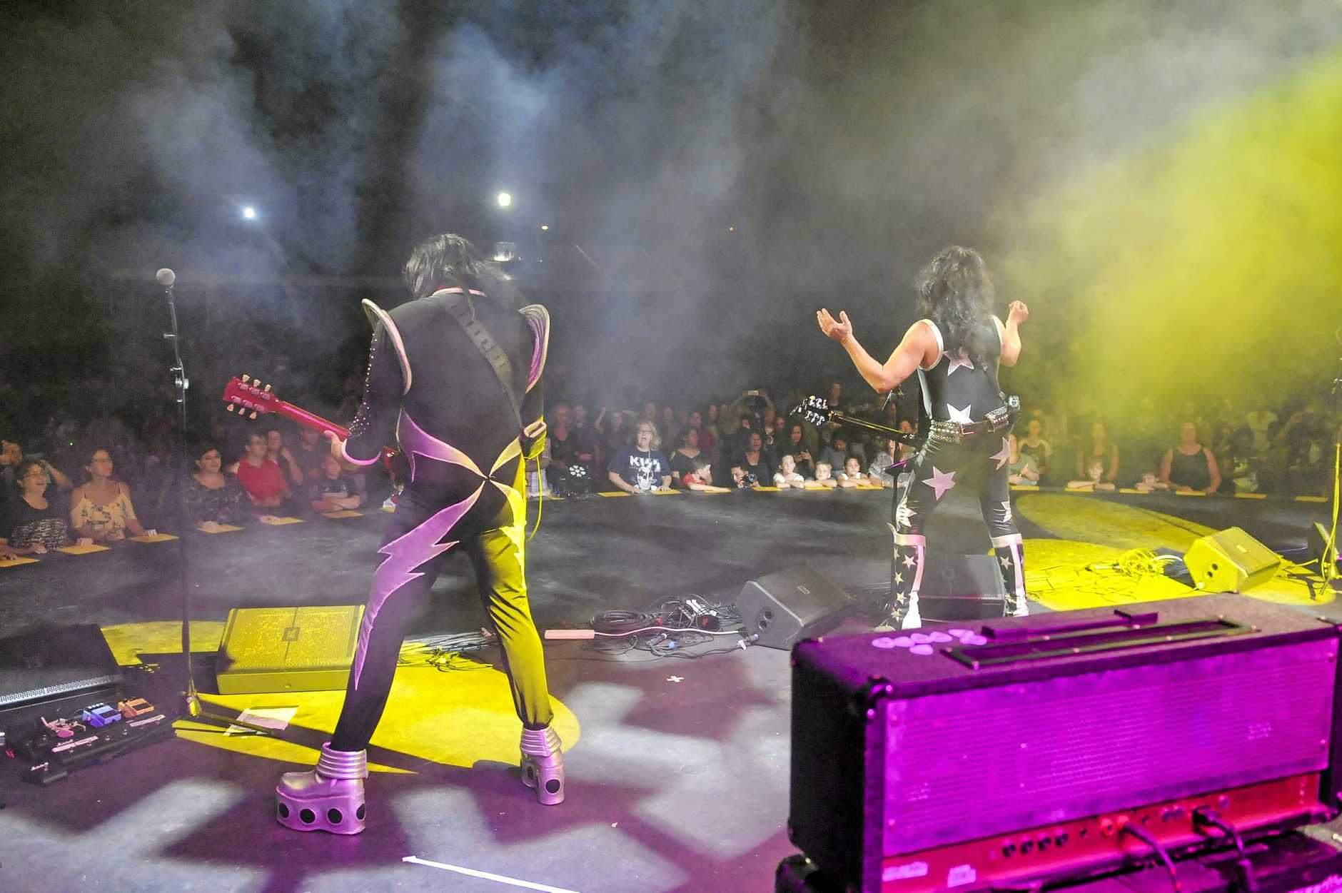 Kisstroyer headlined Gladstone's 2018 Harbour Festival at the Gladstone Ports Corporation's Marina Main Stage, on Gladstone Regional Council's Sensational Saturday Night.