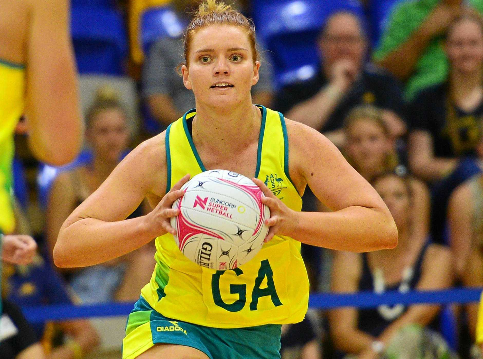 PRACTICE MATCH: Stephanie Wood for the Diamonds against the Lightning at the University of the Sunshine Coast.