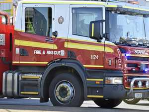 Firefighters battle house, caravans fire on Western Downs
