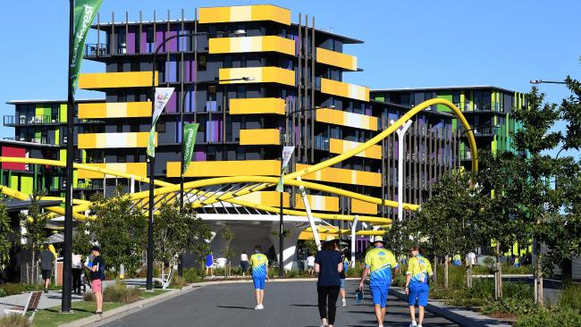 Just three days out from the Commonwealth Games, many athletes are already at the athletes village on the Gold Coast. Picture: AAP Image/Dave Hunt