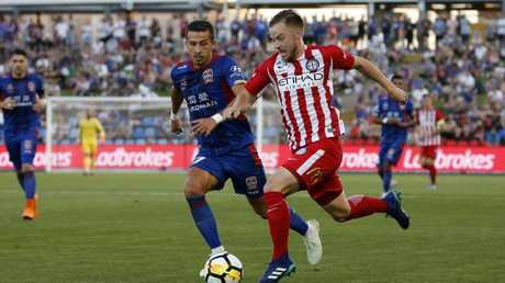 Melbourne City proved too strong for the Jets in Newcastle.