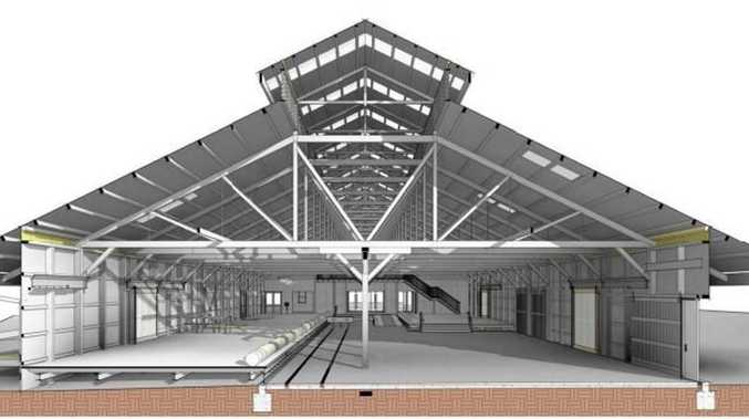 3D rendering of the approved railway goods shed redevelopment.
