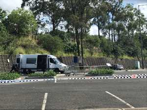 Police have created a 100m exclusion zone around a suspected improvised explosive.