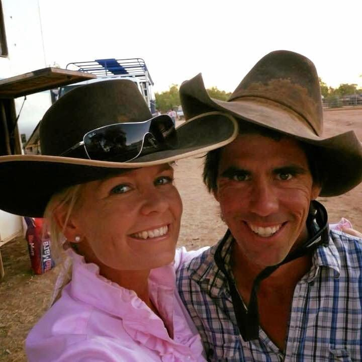 MEANT TO BE: Candy and Shane Templeton met at the Nixon's Xing campdraft.