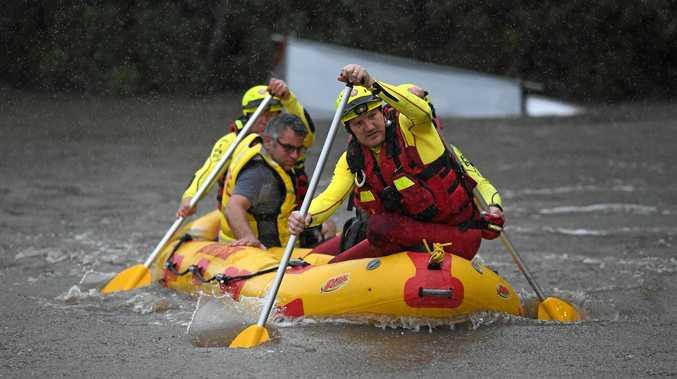GENERIC PHOTO: Swift water rescue in Splitters Creek on Heales Road Sharon.
