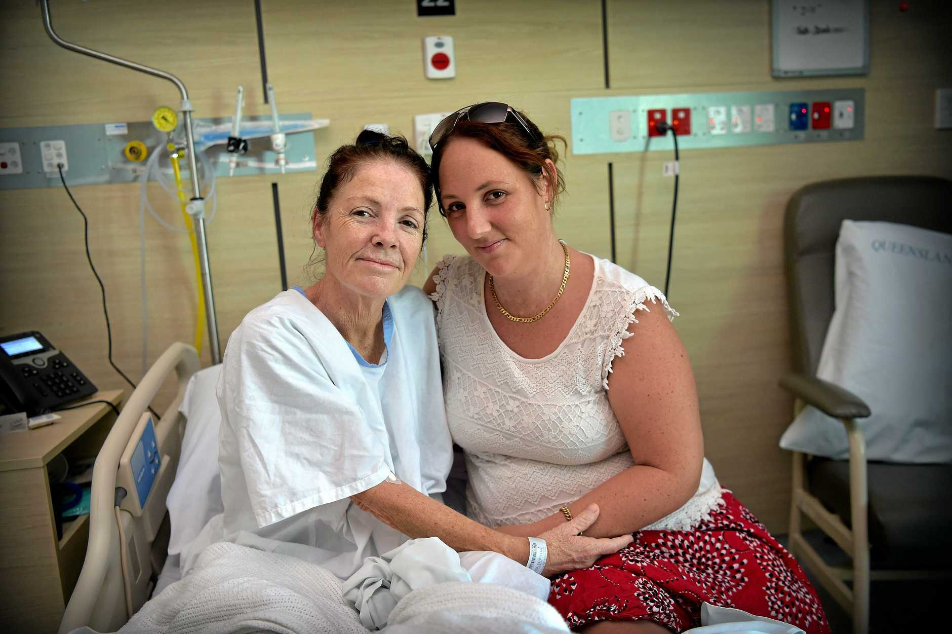 Irene Cryer (Jill) is recovering in hospital after her rare illness. Pictured with her daughter Amy