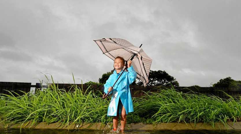 MINI METEOROLOGIST: Aspiring weather reporter Samayah McCall, 6 of Marian.