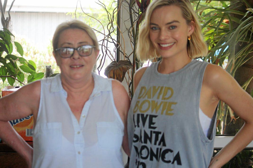 Donna Bell and Margot Robbie in Dalby.