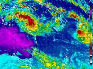 Tropical Cyclone Iris reforms in Coral Sea