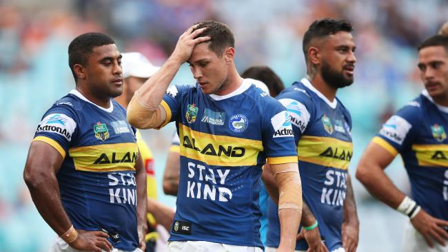 Mitchell Moses and the Eels haven't plenty of work to do to turn their season around. Picture: Phil Hillyard
