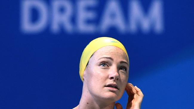 Cate Campbell at the Gold Coast Aquatic Centre. Picture: AAP Image/Dave Hunt