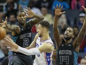 Simmons' career-high in 76ers thumping