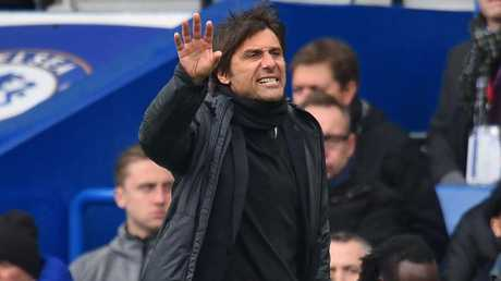 Chelsea's Italian head coach Antonio Conte gestures on the touchline