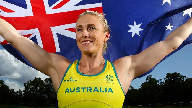 Sally Pearson has missed out on the honour of carrying the Australian flag . Picture: Adam Head