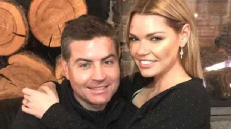 Sophie Monk and Stu Laundy in Canada. Picture: Instagram