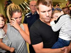 Why David Warner 'hid behind kids'