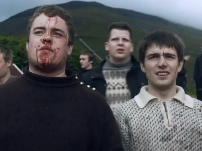 Faroese pictured in a new documentary about the Faroe Islands' annual whale hunt.