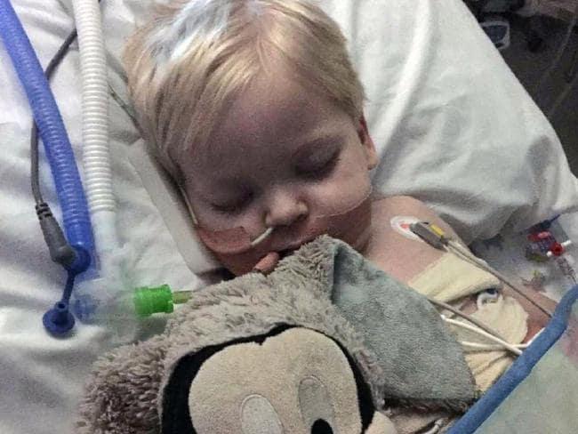 Dylan Askin in hospital. Picture: BPM Media