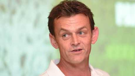 Former Australia cricket captain Adam Gilchrist speaks to the media during an Ashes media event at the Gabba in Brisbane, Wednesday, October 18, 2017. Picture: AAP /Albert Perez.