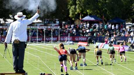 Athletes of all ages compete at Stawell over the Easter long weekend. Picture: AAP