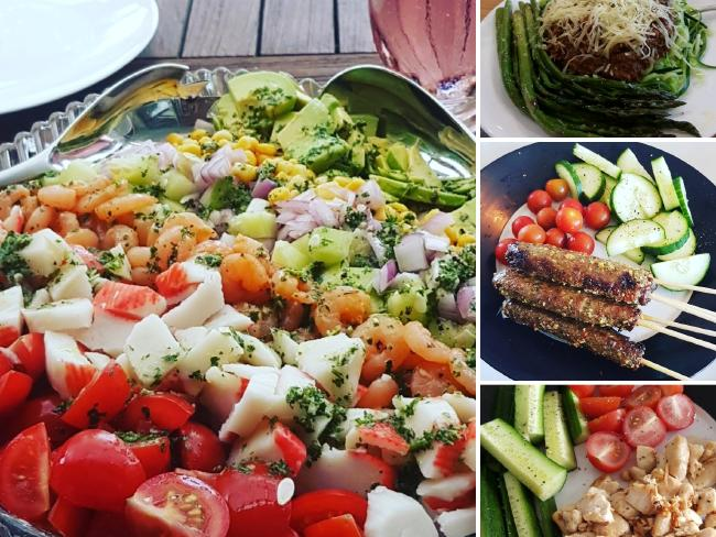 Her lunches and dinners are heavy on the veg and light on carbs. Picture: Ashleigh Butcher